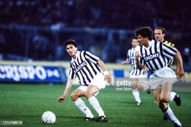 Dino BAGGIO of Juventus during the UEFA Cup Final second leg match between Juventus Turin and Borussia Dortmund at Stadio delle Alpi Turin Italy on...