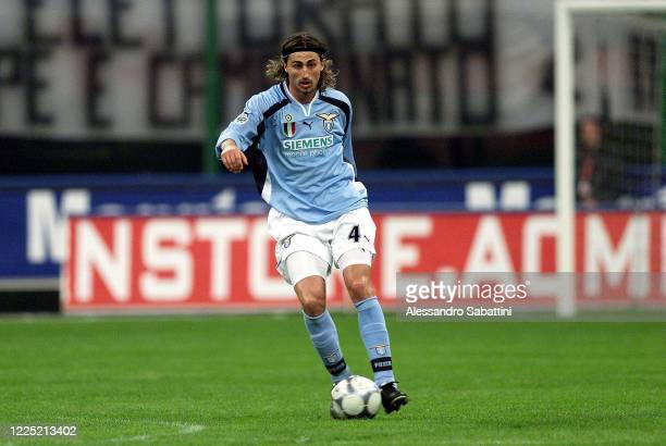Dino Baggio of SS Lazio in action during the Serie A 2000-01, Italy.