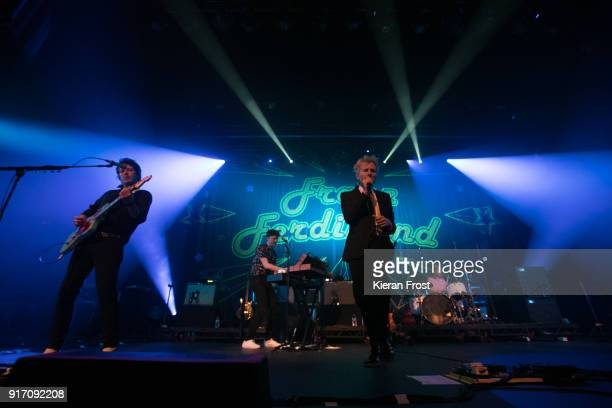 Dino Bardot Julian Corrie Alex Kapranos and Paul Thomson of Franz Ferdinand perform live at the Olympia Theatre on February 11 2018 in Dublin Ireland