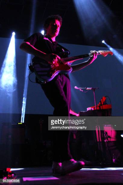 Dino Bardot of Franz Ferdinand performs at REBEL on April 8 2018 in Toronto Canada