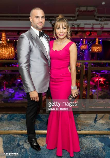 Dino Costas and Elen Rivas attend the Float Like A Butterfly Ball in aid of Caudwell Children at The Grosvenor House Hotel on November 16 2019 in...