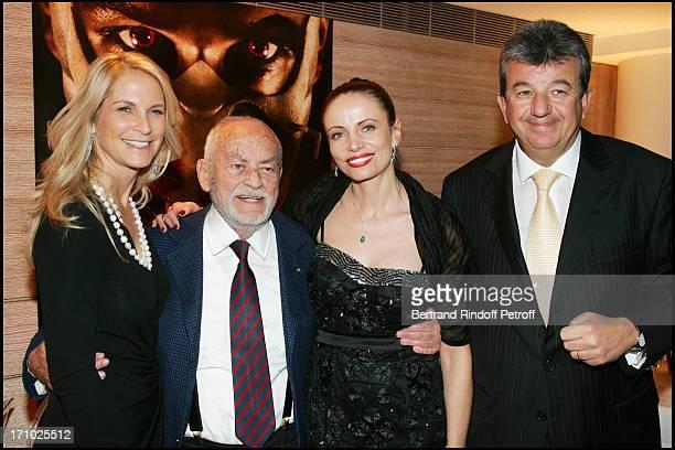 Dino De Laurentiis his wife Martha Tarak Ben Ammar and his wife Beata Premiere of the movie Hannibal Rising at the Charles Louis Havas space in...