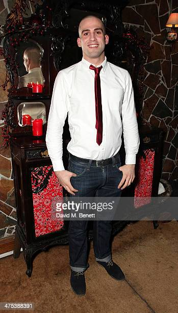 Dino Fetscher attends the after party for the press night of Ghost Stories at on February 27 2014 in London England