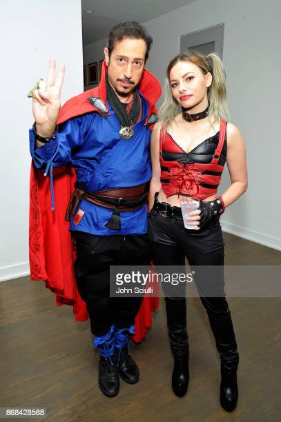 Dino Magis and Siena Oberman attend Diego Boneta's David Bernon's Halloween at the Hedges by Chivas Regal on October 30 2017 in West Hollywood...
