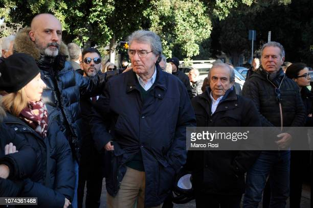 Dino Zoff former of SS Lazio attends the former SS Lazio player Felice Pulici funeral at Sacro Cuore of Cristo Re on December 18 2018 in Rome Italy