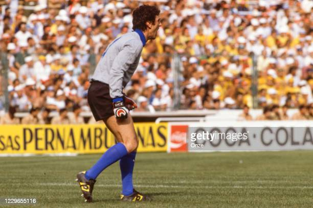 Dino Zoff of Italy during the second stage of the 1982 FIFA World Cup match between Italy and Brazil, at Sarria Stadium, Barcelona, Spain on 5 July...