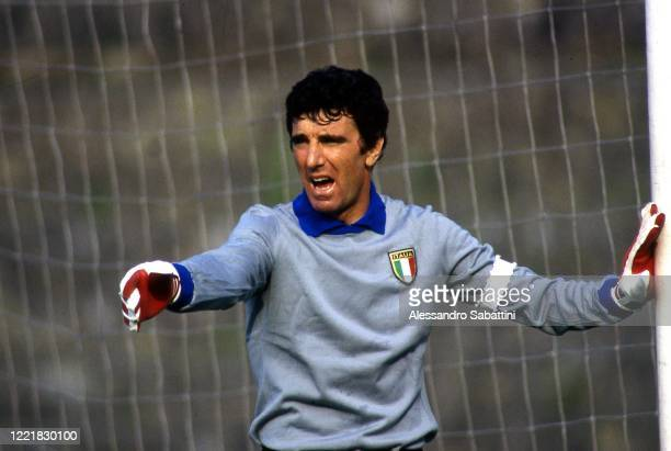 Dino Zoff of Italy gestures 1980.