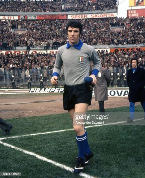 Dino Zoff of Italy looks on 1974, Italy.