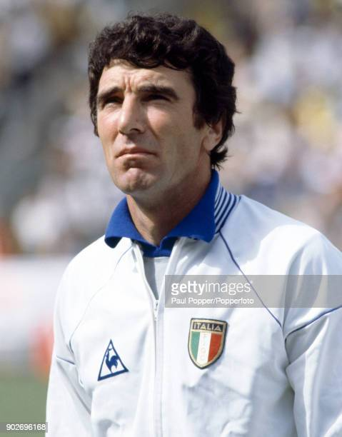 Dino Zoff of Italy prior to the FIFA World Cup match between Italy and Brazil at the Estadia Sarria in Barcelona 5th July 1982 Italy won 32