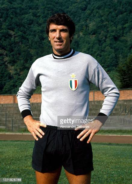 Dino Zoff of Juventus poses for photo during the Serie A 197576 Italy