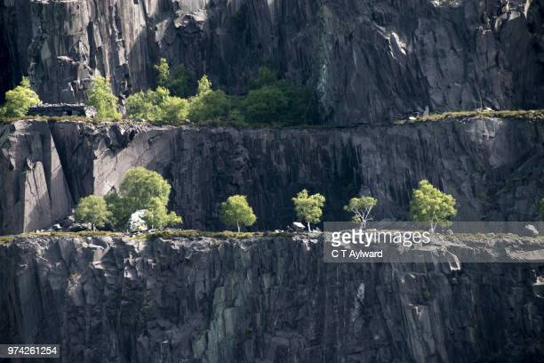 dinorwic abandoned slate quarry snowdonia - gwynedd stock photos and pictures