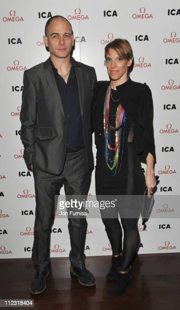 Dinos Chapman and guest attend the ICA fundraising gala at KOKO on March 24 2010 in London England
