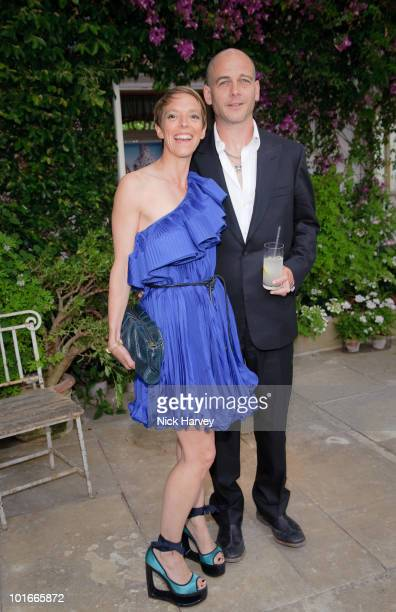 Dinos Chapman and his wife Tiphaine de Lussey attend the annual Raisa Gorbachev Foundation Party at Stud House Hampton Court on June 5 2010 in London...
