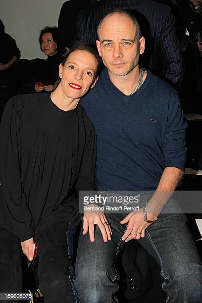 Dinos Chapman and his wife Tiphaine de Lussy attend the Louis Vuitton Men Autumn / Winter 2013 show as part of Paris Fashion Week on January 17 2013...