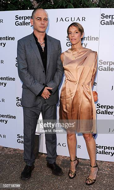 Dinos Chapman and Tiphaine de Lussy arrive at The Serpentine Gallery Summer Party on July 8 2010 in London England