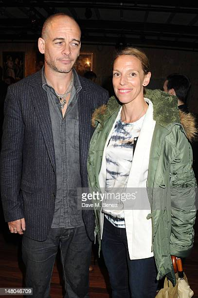 Dinos Chapman and Tiphaine De Lussy attend Hoping For Palestine at The Open Theatre Regents Park on July 8 2012 in London England