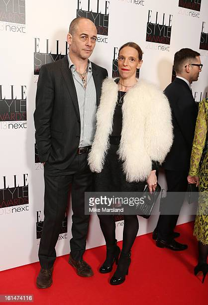Dinos Chapman and Tiphaine De Lussy attend the Elle Style Awards 2013 at The Savoy Hotel on February 11 2013 in London England