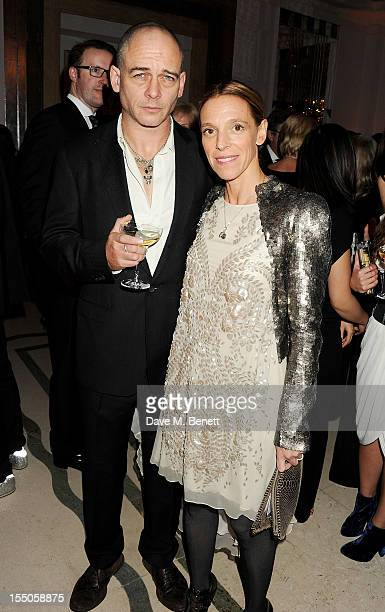 Dinos Chapman and Tiphaine de Lussy attend the Harper's Bazaar Women of the Year Awards 2012 in association with Estee Lauder Harrods and Tiffany Co...
