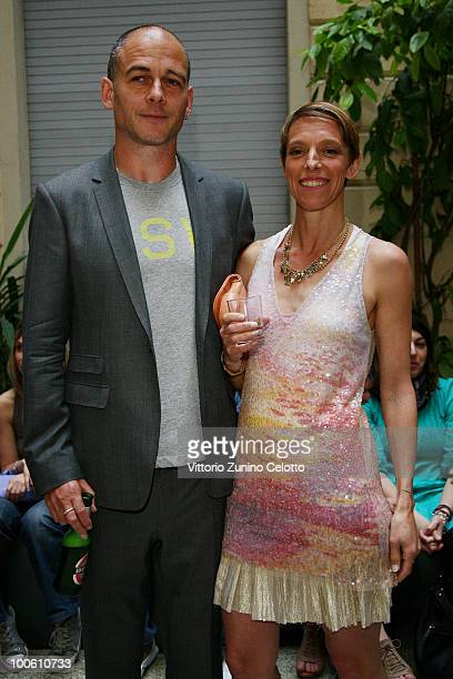 Dinos Chapman and Tiphaine De Lussy attend the Jake And Dinos Chapman Opening At The ProjectB Gallery on May 25 2010 in Milan Italy