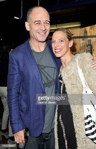 """Dinos Chapman and Tiphaine de Lussy attend the launch of Club Monaco's """"Made In The USA"""" Capsule Collection at Anthem on October 16, 2012 in London,..."""