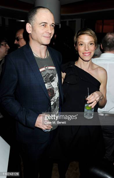 Dinos Chapman and Tiphaine De Lussy attend the W London-Leicester Square premiere 'W London Calling' at W London-Leicester Square on March 16, 2011...