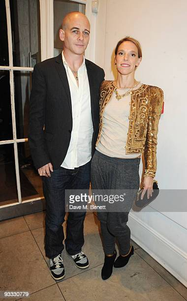 Dinos Chapman and wife Tiphaine attend the Stella McCartney Christmas party as the Stella McCartney Store switches on its Christmas lights on...
