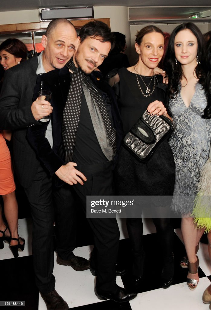 Dinos Chapman, Matthew Williamson, Tiphaine de Lussy and Andrea Riseborough attend the after party following the Elle Style Awards at The Savoy Hotel on February 11, 2013 in London, England.