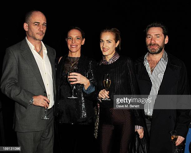 Dinos Chapman, Tiphaine de Lussy, Polly Morgan and Mat Collishaw attend the Jonathan Saunders, Fantastic Man and Selfridges London Collections: MEN...