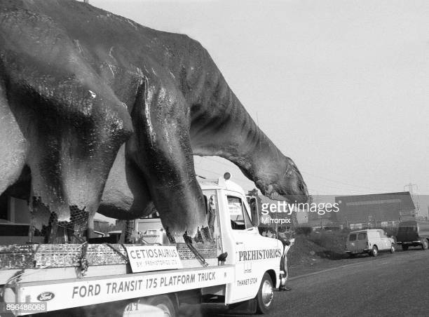 A dinosaur on the move in Essex A 16 foot high and 45 foot long Cetiosaurus a species of dinosaur made by Mr Alan Ross left Ramsgate this morning en...