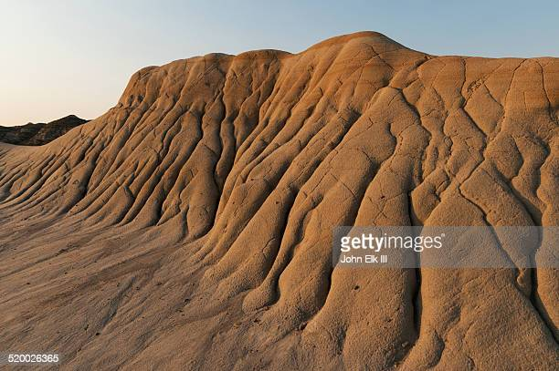 dinosaur provincial park, badlands landscape - animal extinto fotografías e imágenes de stock