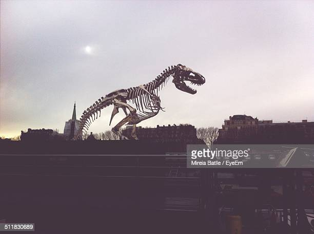 dinosaur sculpture - tyrannosaurus rex stock photos and pictures