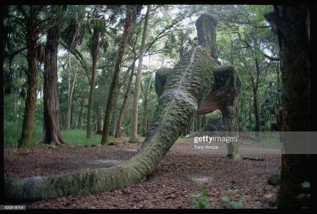 Dinosaur Statues In Sugar Mill Gardens : Stock Photo