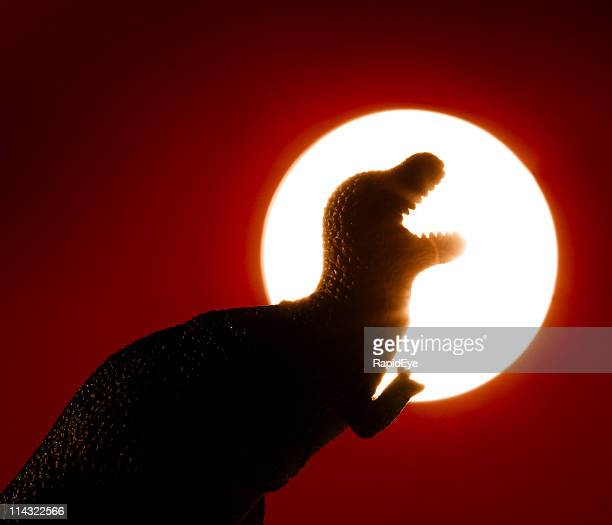 Dinosaurier-Sonnenuntergang