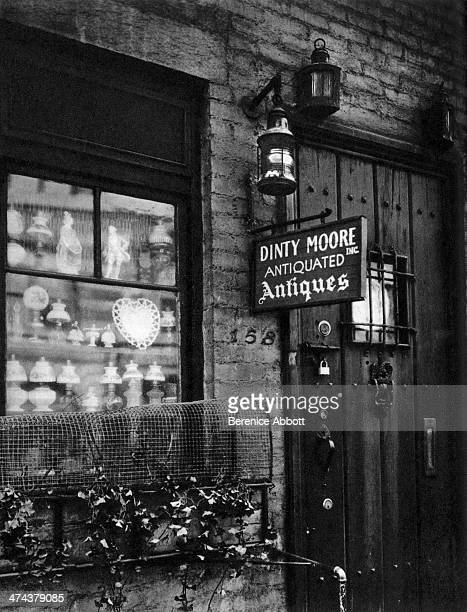 Dinty Moore Antiquated Antiques on West 11th Street Greenwich Village New York City New York circa 1945