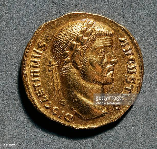 Diocletian aureus bearing the image of the Emperor Roman coins 3rd4th century AD
