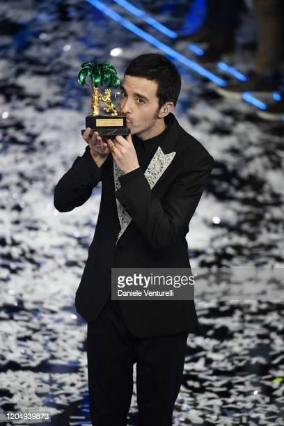 Diodato attends the 70° Festival di Sanremo at Teatro Ariston on February 08, 2020 in Sanremo, Italy.