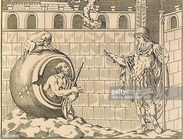 Diogenes and Alexander from Unpublished Monuments of Antiquity by Johann Joachim Winckelmann after a basrelief of Villa Albani in Rome engraving 1767