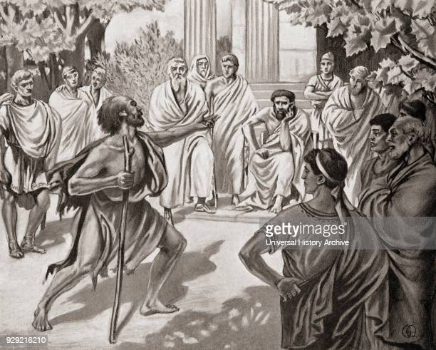 Diogenes challenging Plato in the Academy at Athens Diogenes of Sinope aka Diogenes the Cynic c 412 /404 BC 323 BC Greek philosopher Plato c 428/427...