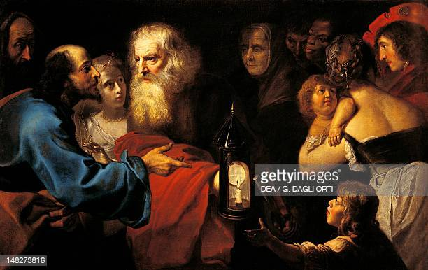 Diogenes in search of man by Pieter van Mol Orleans Musée Des BeauxArts