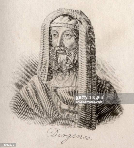 Diogenes of Sinope d c320 BC Greek philosopherEngraved by JWCook