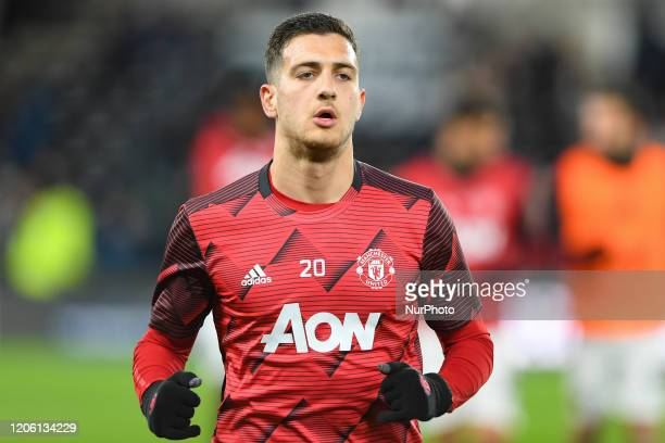 Diogo Dalot of Manchester United during the FA Cup match between Derby County and Manchester United at the Pride Park, Derby on Thursday 5th March...