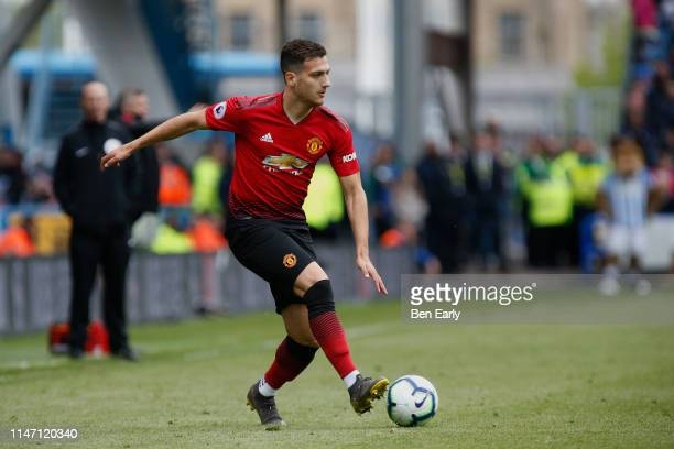 Diogo Dalot of Manchester United during the Premier League match between Huddersfield Town and Manchester United at John Smith's Stadium on May 05...