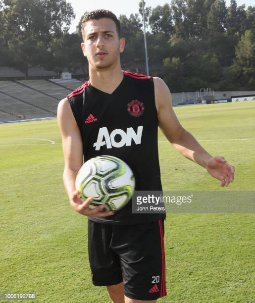 Diogo Dalot of Manchester United in action during a first team training session as part of their preseason tour of the USA at UCLA on July 27 2018 in...