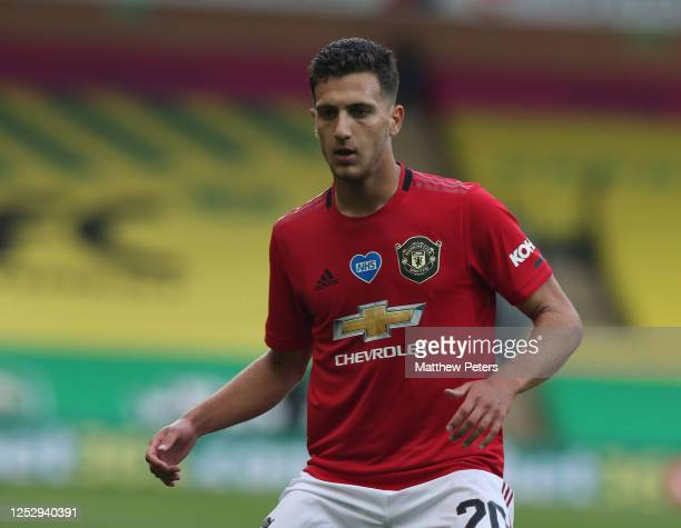 Diogo Dalot of Manchester United in action during the FA Cup Quarter Final match between Norwich City and Manchester United at Carrow Road on June...