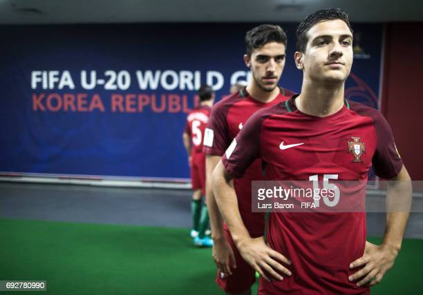 Diogo Dalot of Portugal looks on prior to the FIFA U20 World Cup Korea Republic 2017 Quarter Final match between Portugal and Uruguay at Daejeon...