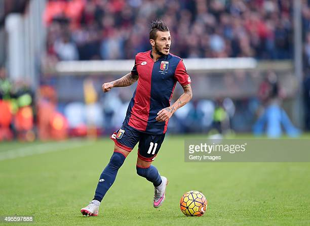 Diogo Figueiras of Genoa in action during the Serie A match between Genoa CFC and SSC Napoli at Stadio Luigi Ferraris on November 1 2015 in Genoa...