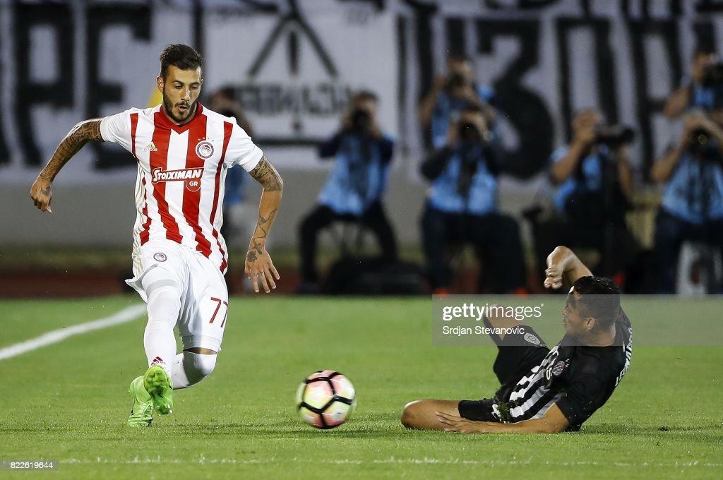 Fc Partizan v Olympiacos - UEFA Champions League Qualifying Third Round: First Leg : News Photo