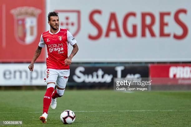 Diogo Figueiras of SC Braga in action during the Preseason friendly match between Sporting Braga and Celta de Vigo at the Estadio AXA on July 27 2018...