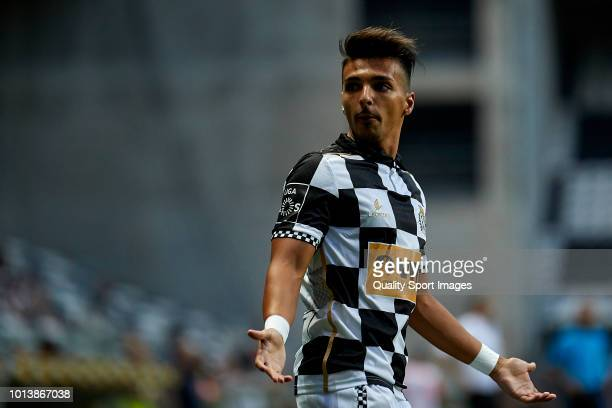 Diogo Filipe Costa Rocha 'Rochinha' of Boavista CF looks on during the Preseason friendly match between Boavista FC and Getafe CF at Estadio do Bessa...