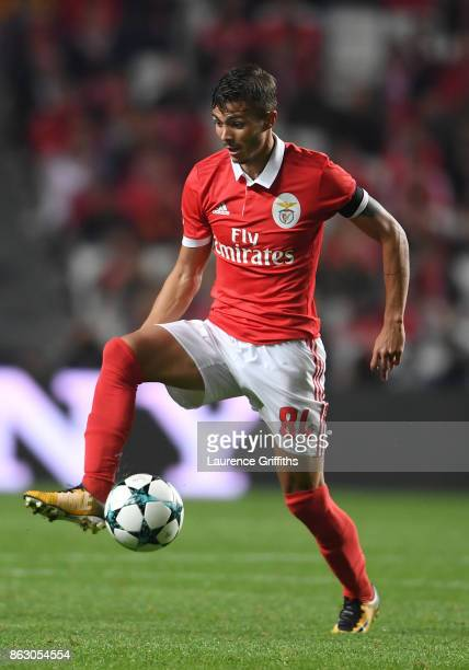 Diogo Goncalves of Benfica looks on during the UEFA Champions League group A match between SL Benfica and Manchester United at Estadio da Luz on...